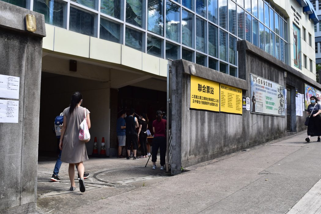 referendum polling station strike national security law