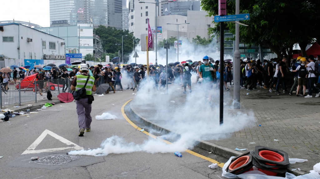 june 12 citic tower tear gas