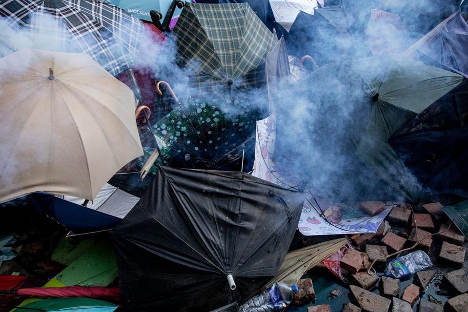 umbrella tear gas poly-u