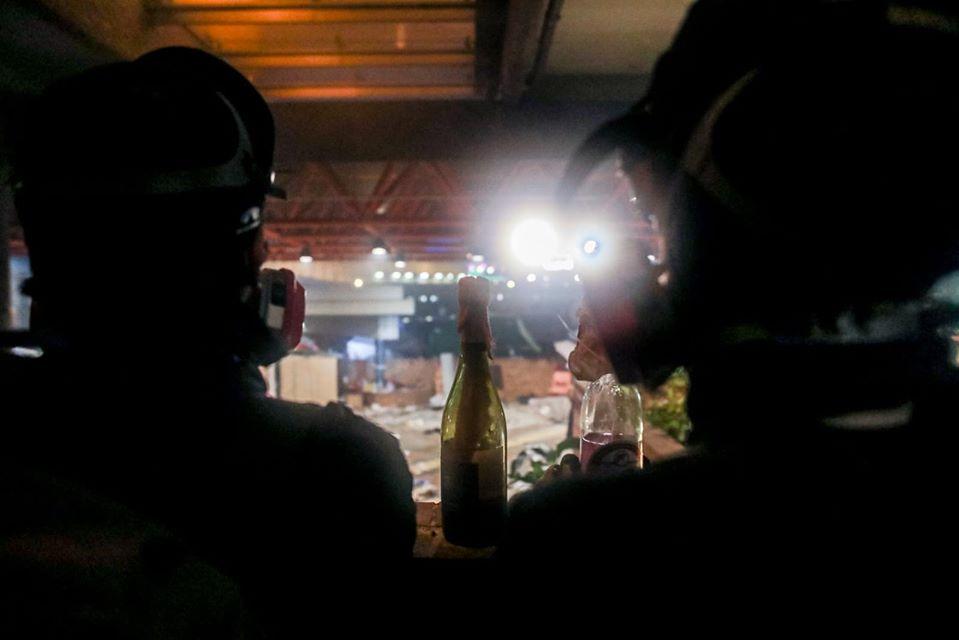 molotov cocktails Poly-U seige November 2019