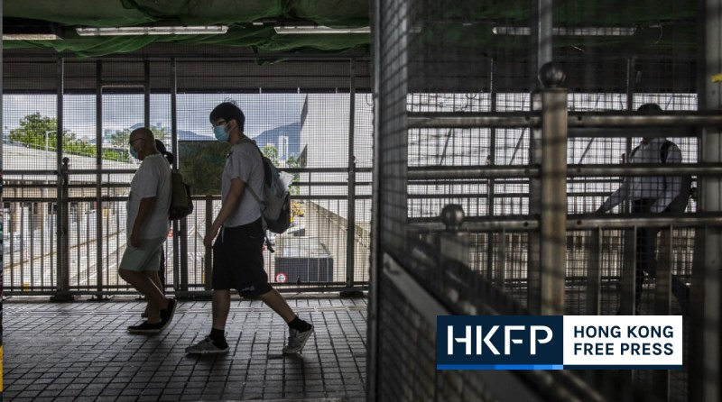 china extradition imprint footbridge protest polyu