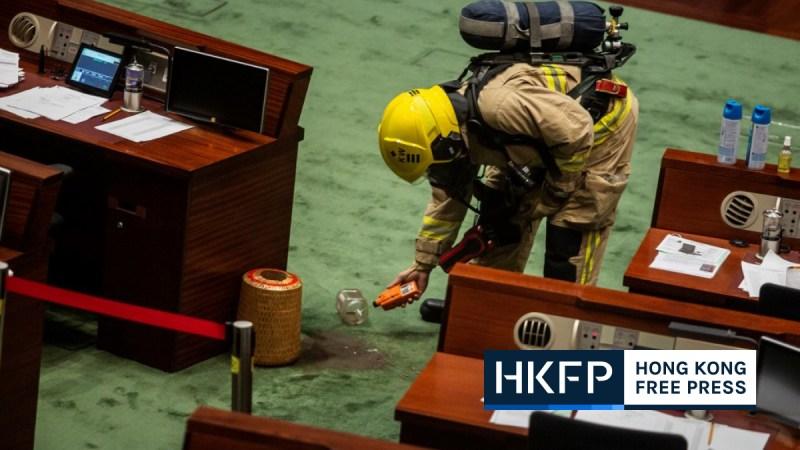 Hong Kong legislature plant liquid