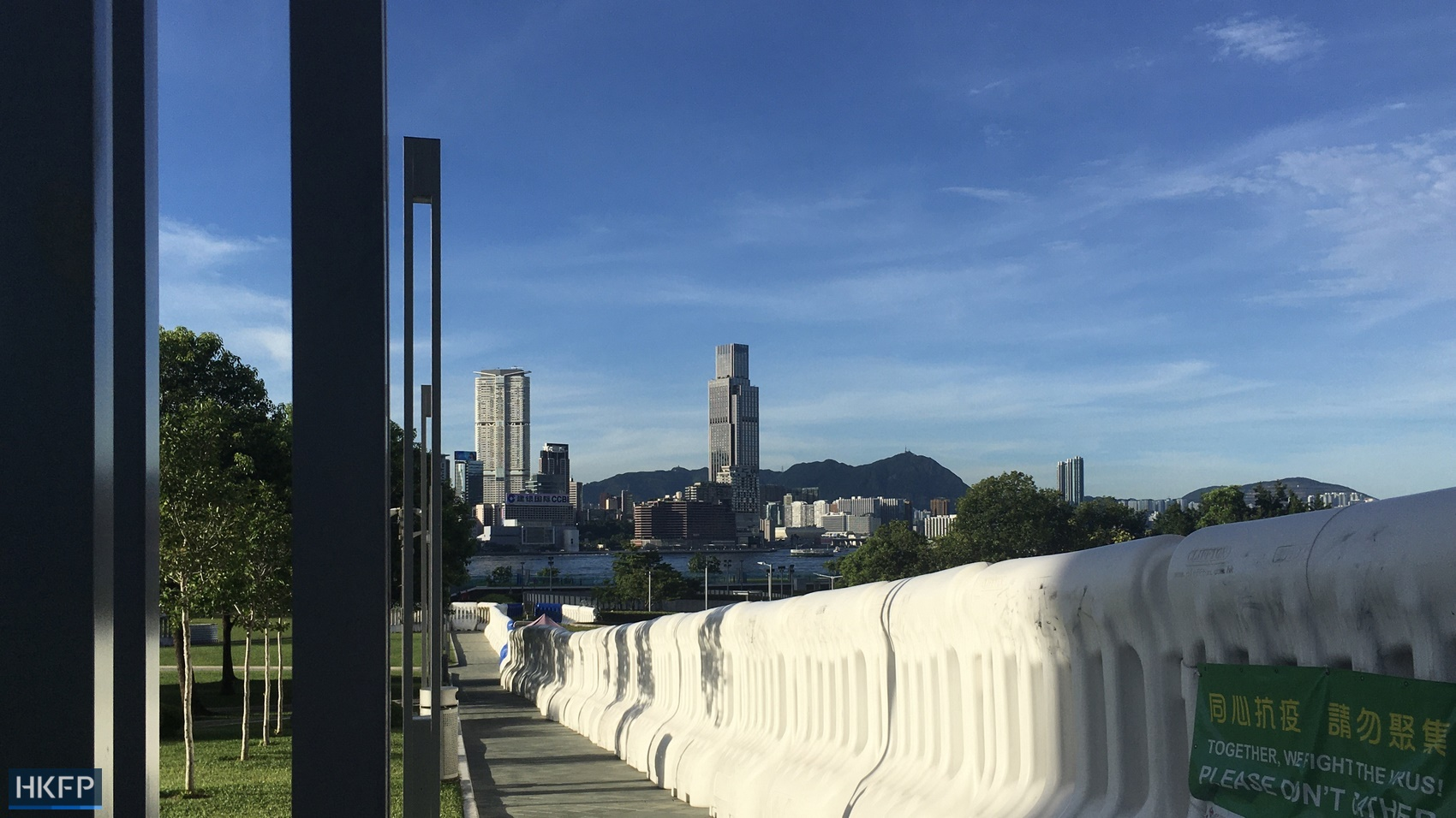 police barriers legco July 2020
