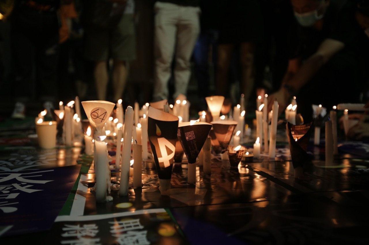 candle tiananmen vigil 4 juni victoria park 2020