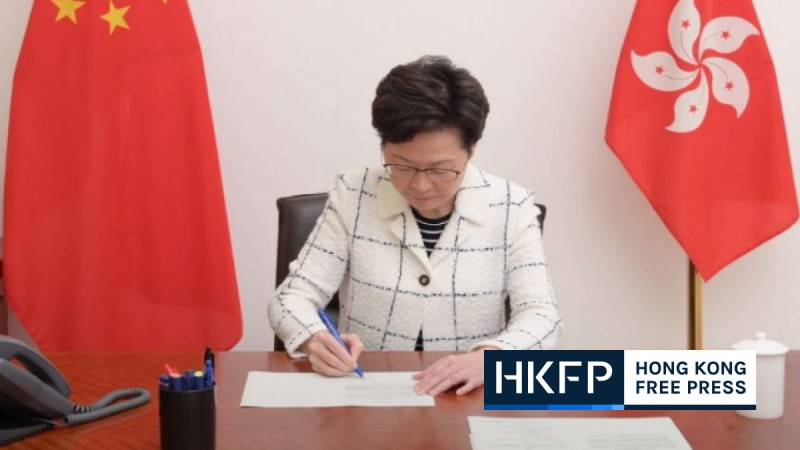 carrie lam security law