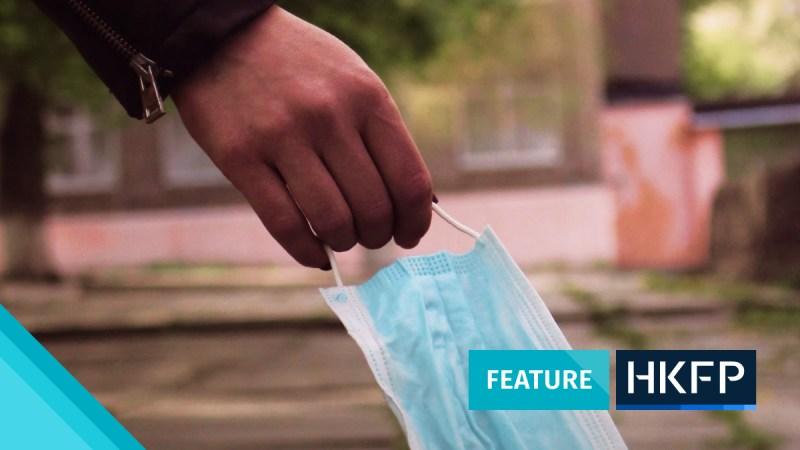 covid waste litter