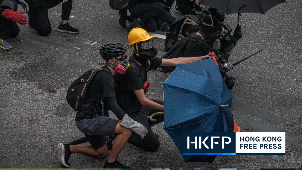hong kong protester protest
