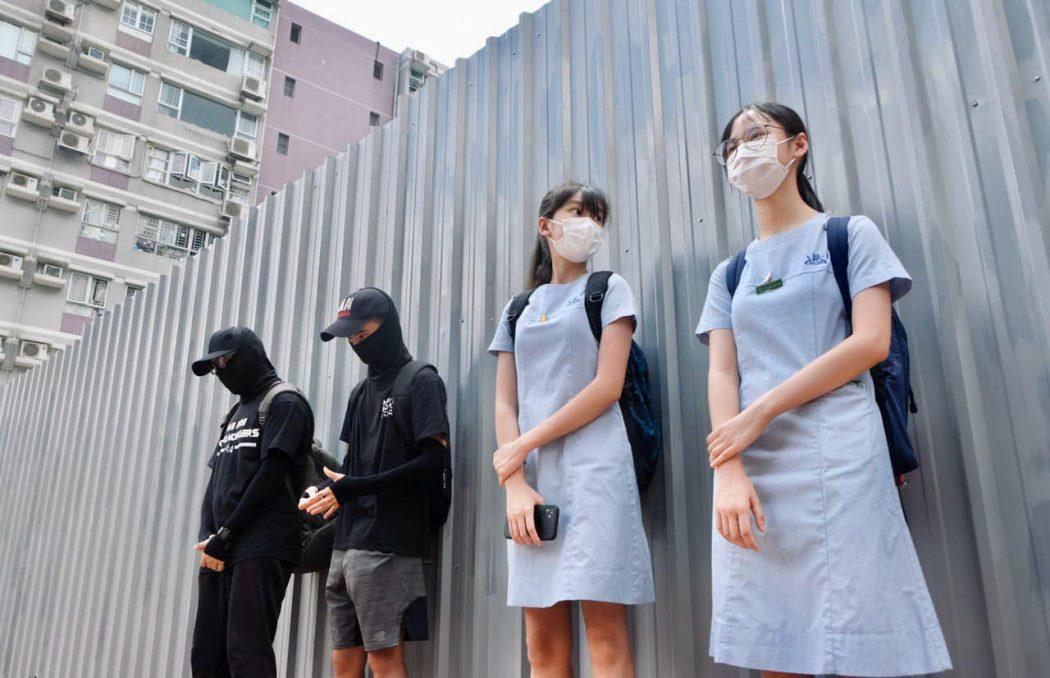 students student human chain june 12 2020 (4)