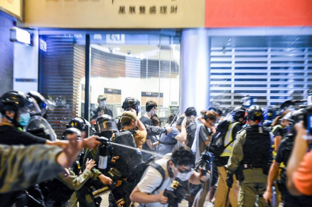 June 9 2020 march police Central pepper spray