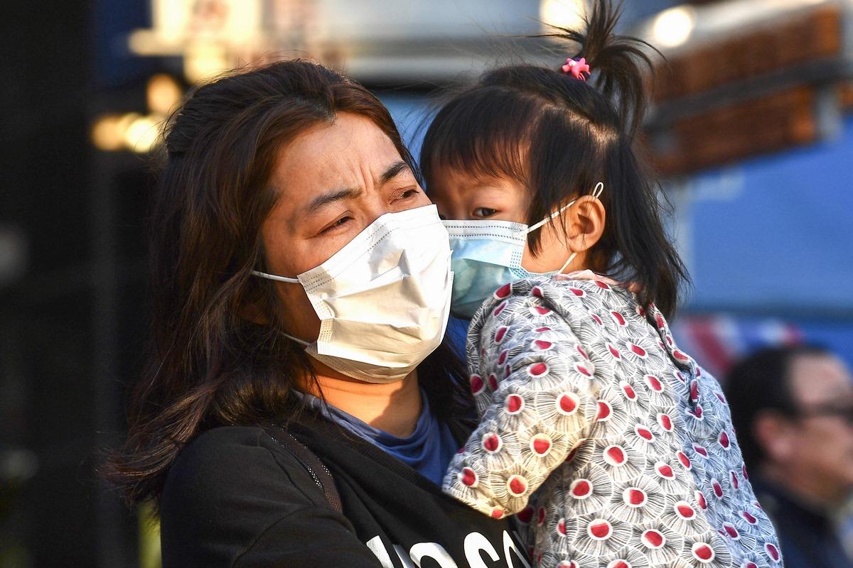 Coronavirus virus covid-19 mask child
