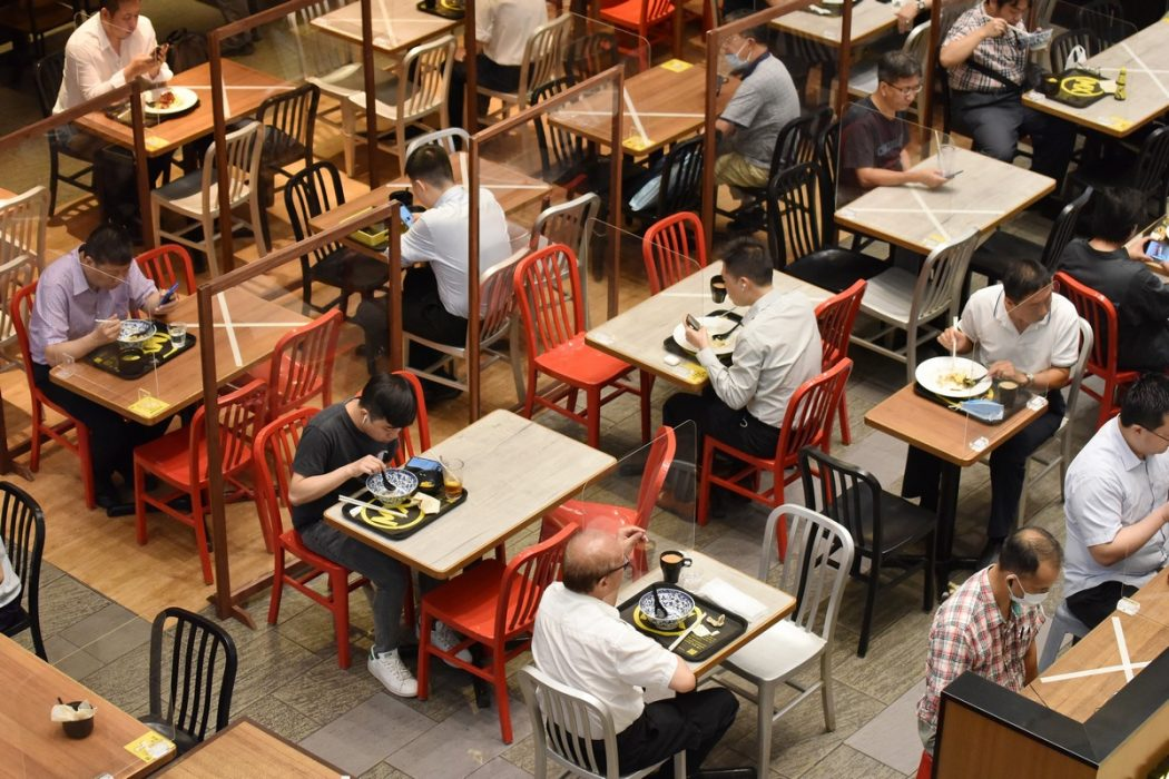 Coronavirus virus covid-19 social distancing restaurant