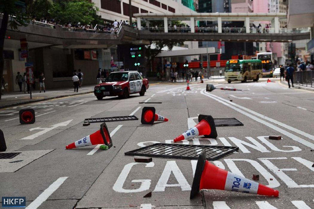 barricades protest march five demands 1 July 2020 causeway bay