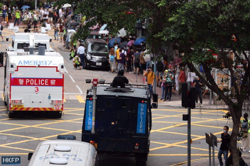 Police trucks