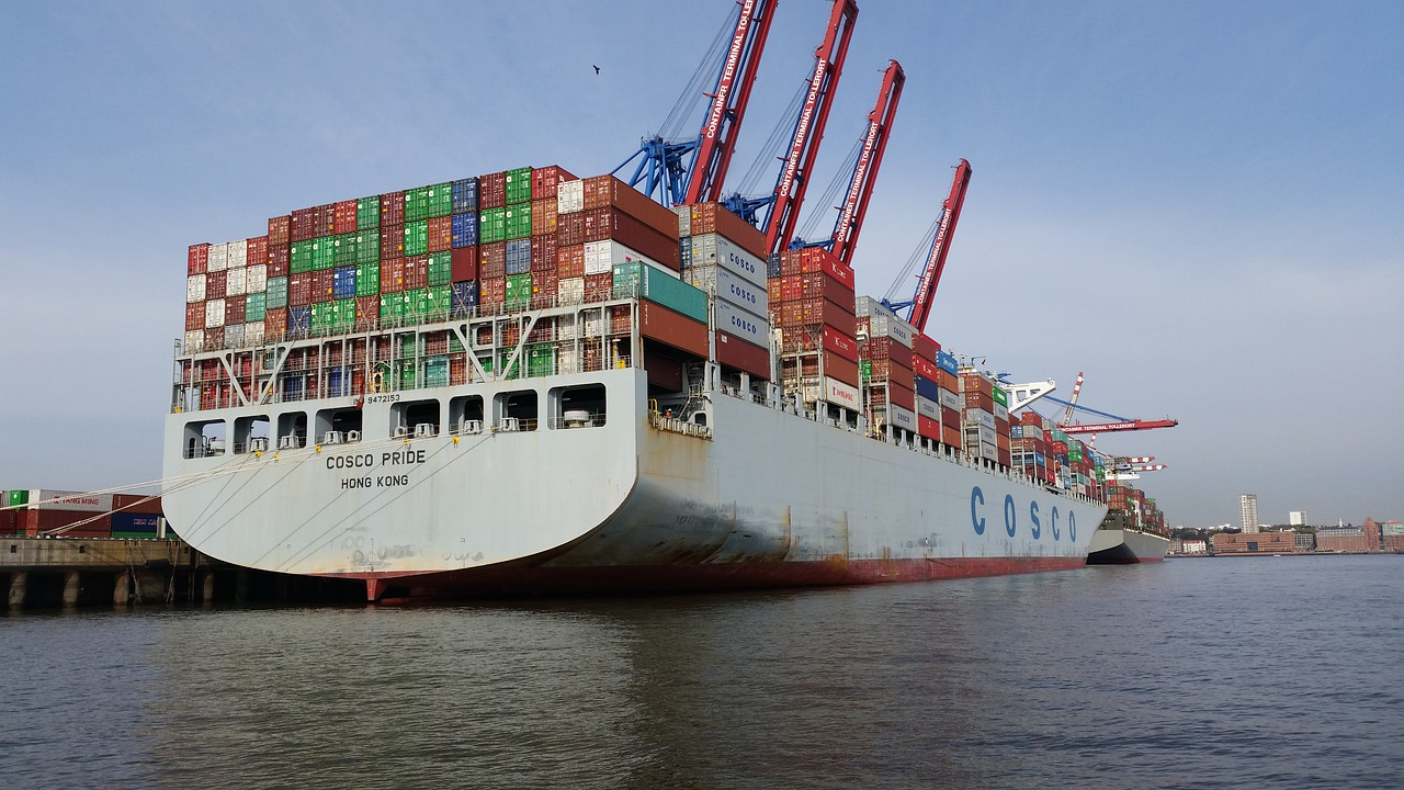 Mengekspor perdagangan pengiriman pelabuhan
