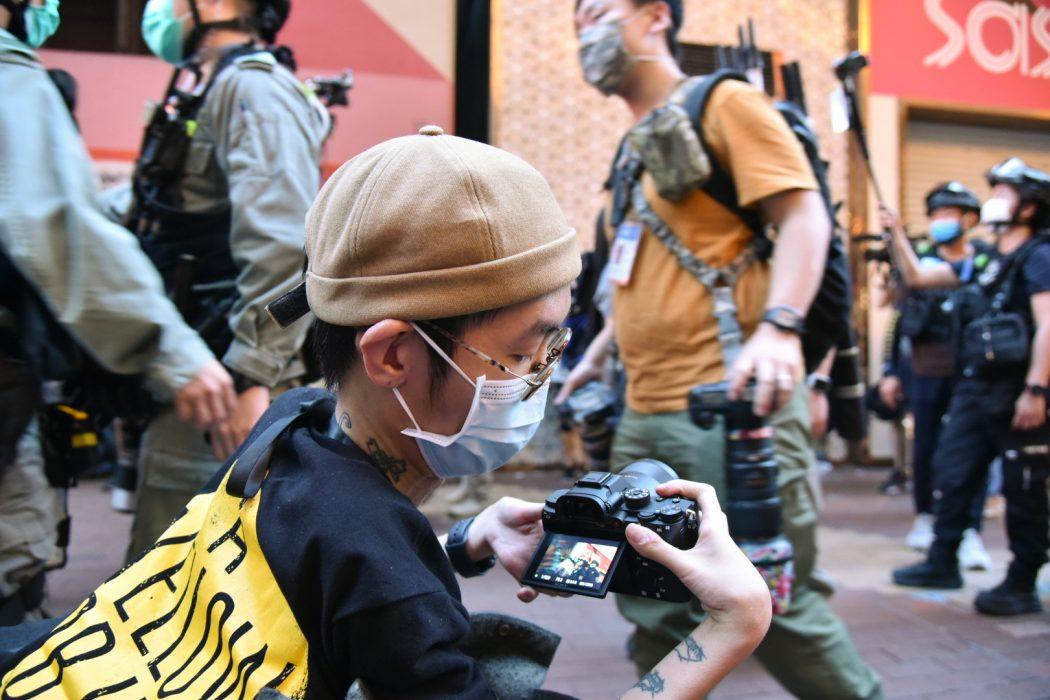 wheelchair reporter camera