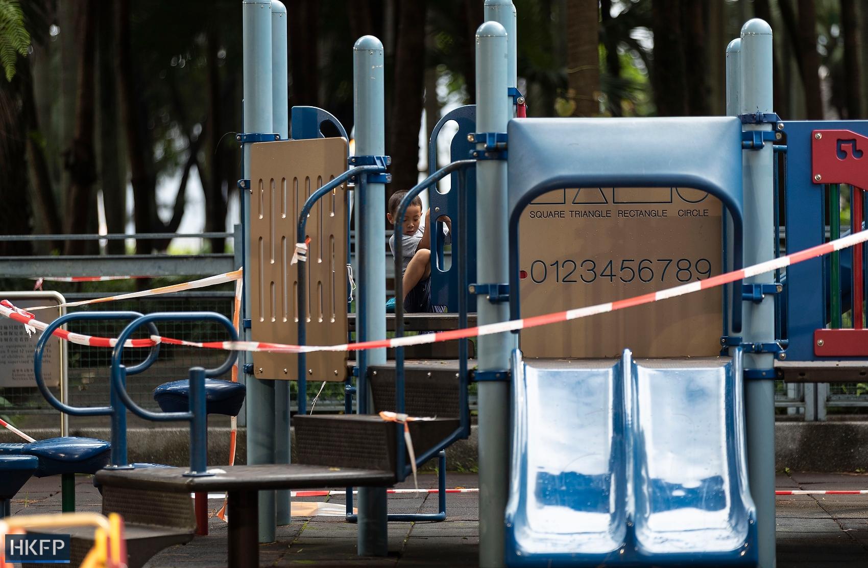 playground closed coronavirus covid masks