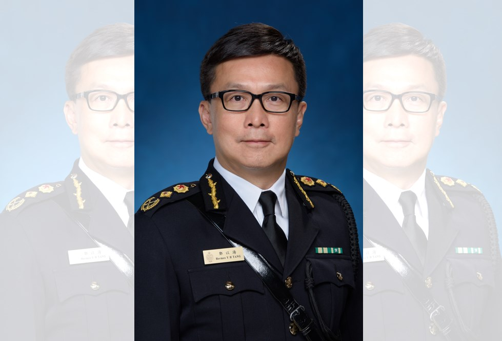 Commissioner of Customs and Excise Hermes Tang Yi-hoi.