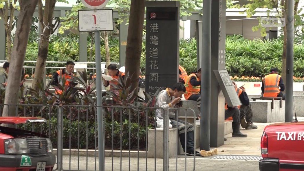 Coronavirus virus covid-19 dining in ban construction worker