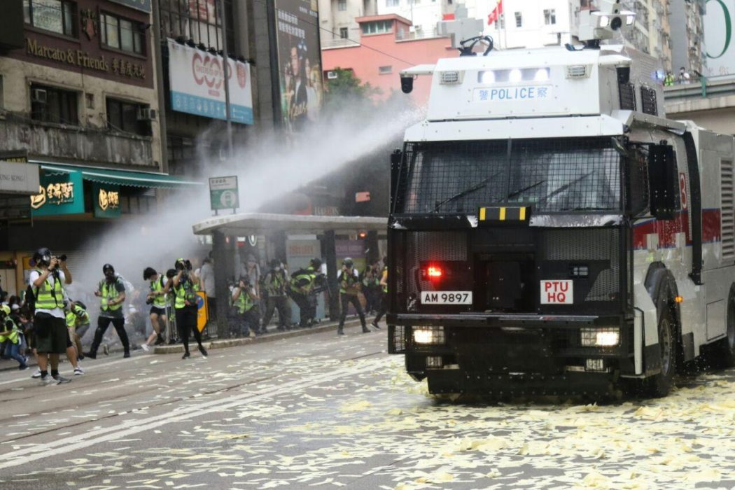 water cannon police causeway bay 1 July 2020