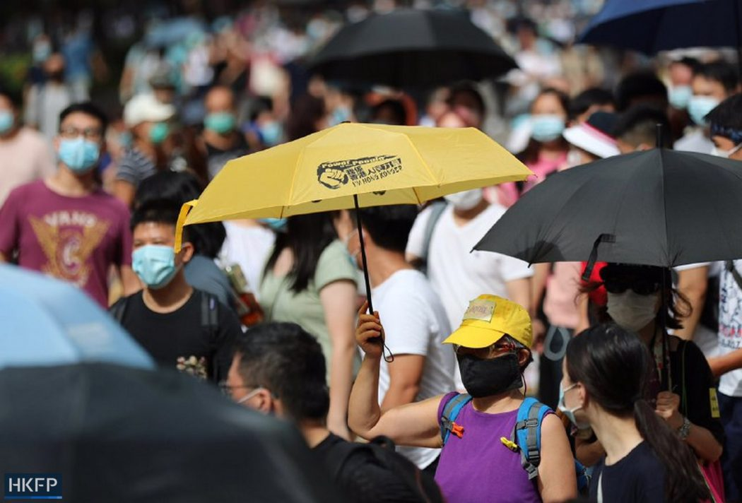 protest march five demands 1 July 2020 causeway bay yellow umbrella