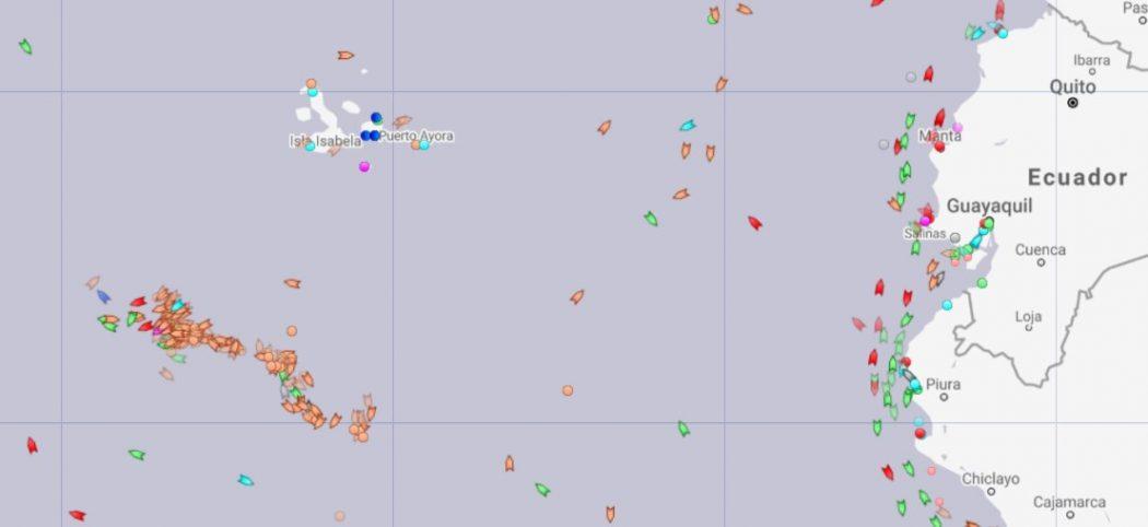 Galapagos chinese fleets