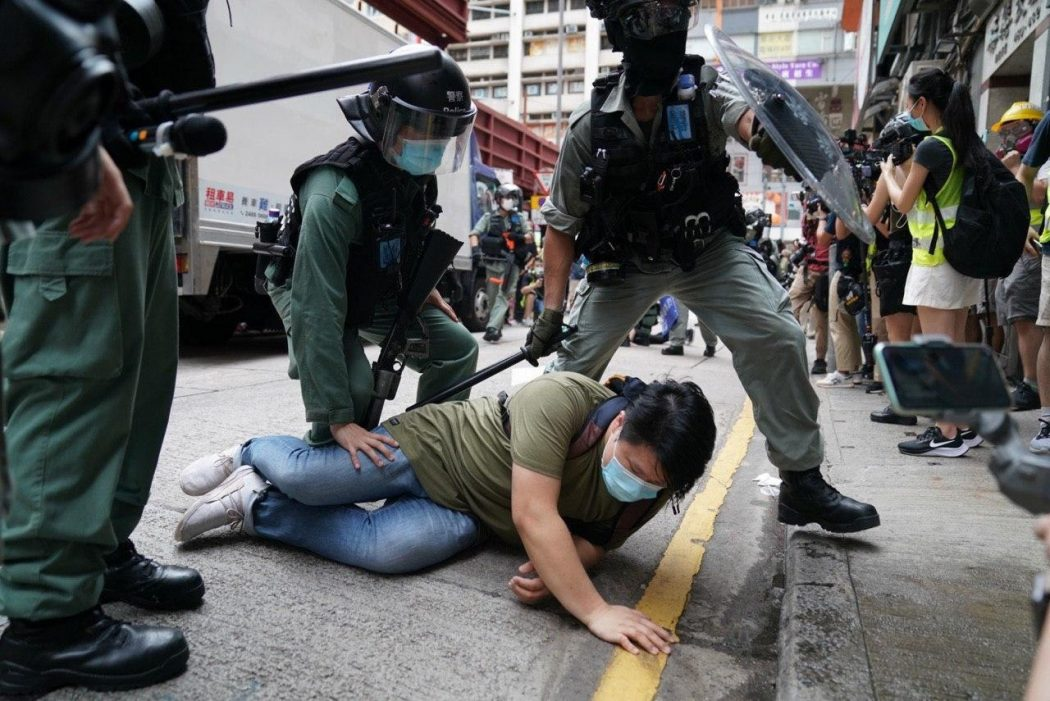 arrested protest march five demands 1 July 2020 causeway bay