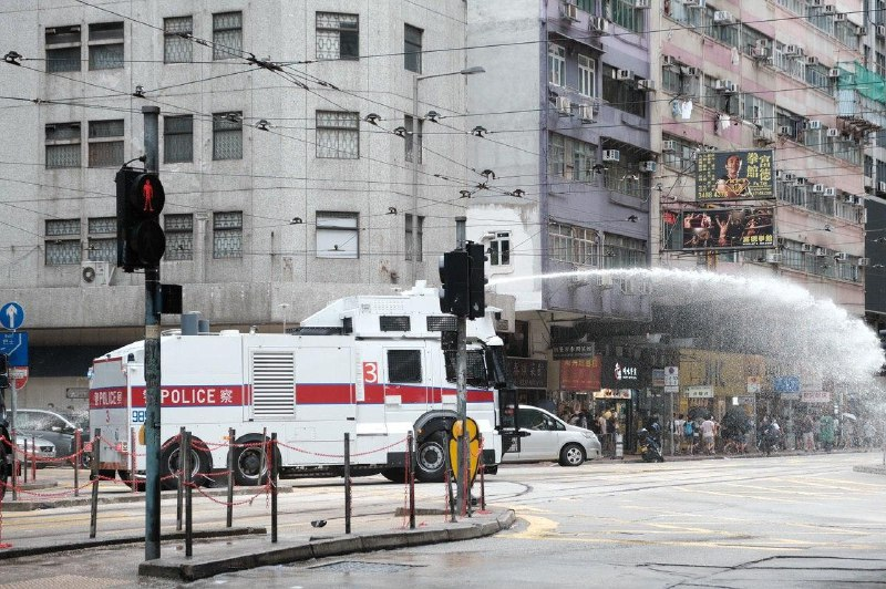 water cannon causeway bay 1 July 2020