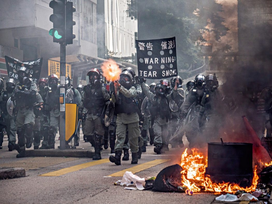 protest police tear gas