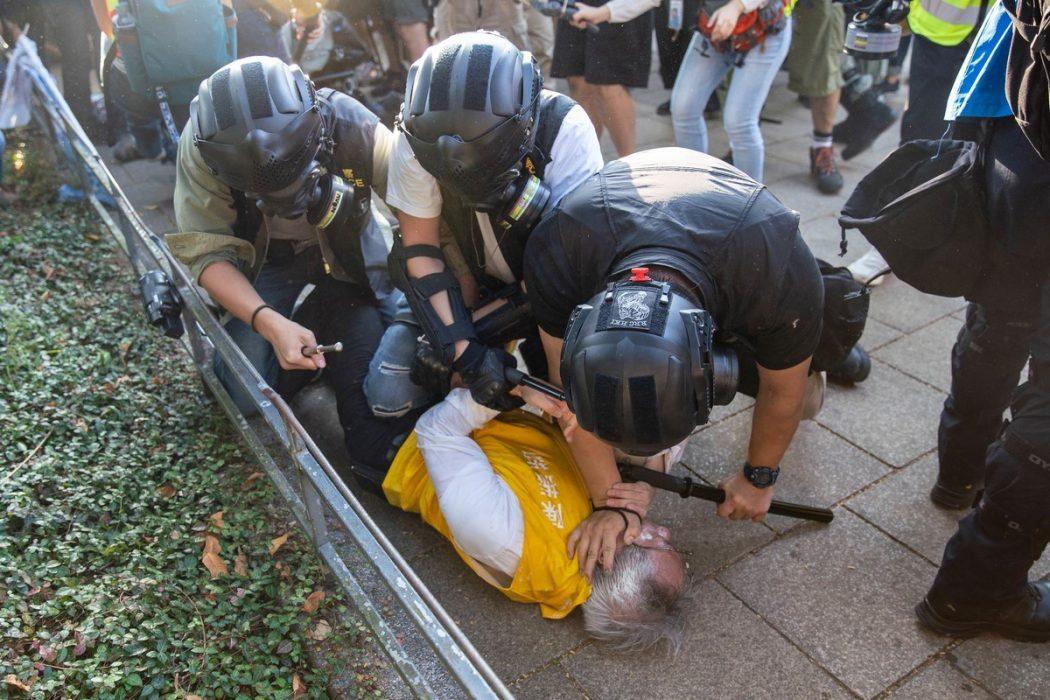 Protest police arrest