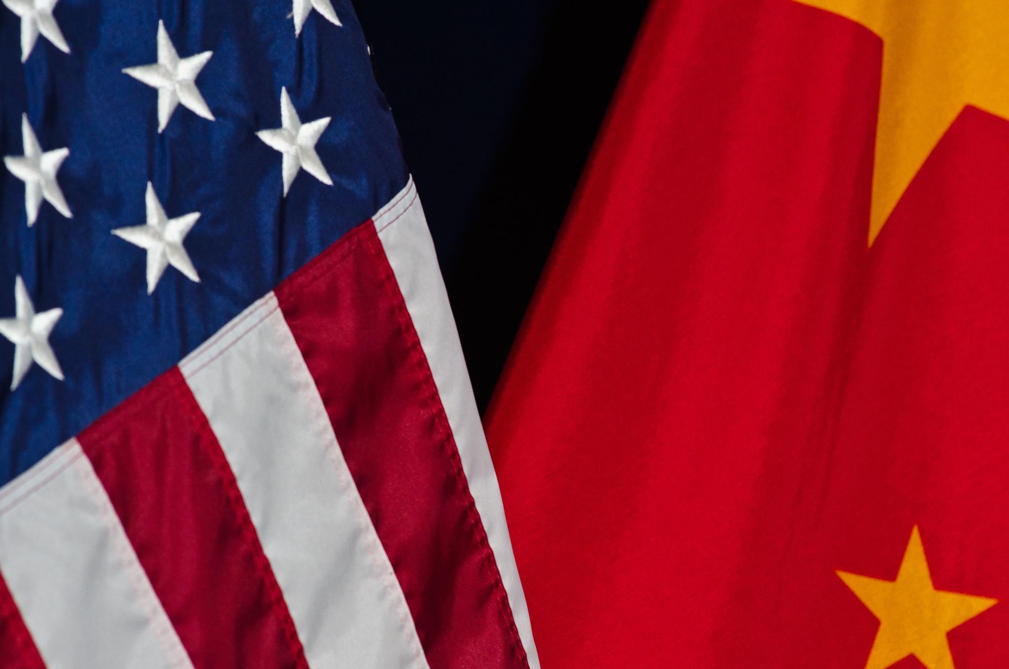 US vs. China Flag