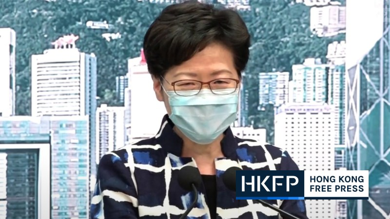 carrie lam covid test
