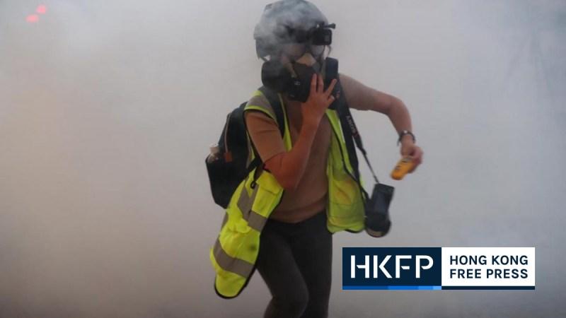 Journalist tear gas