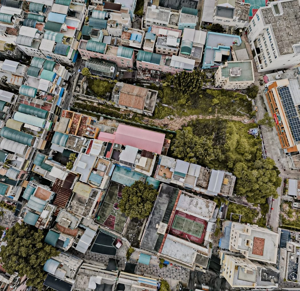 abandoned cinema Cheung Chau bird's eye view