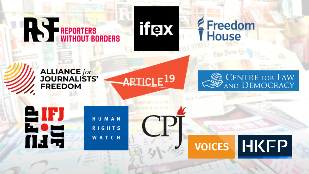 press freedom NGOs