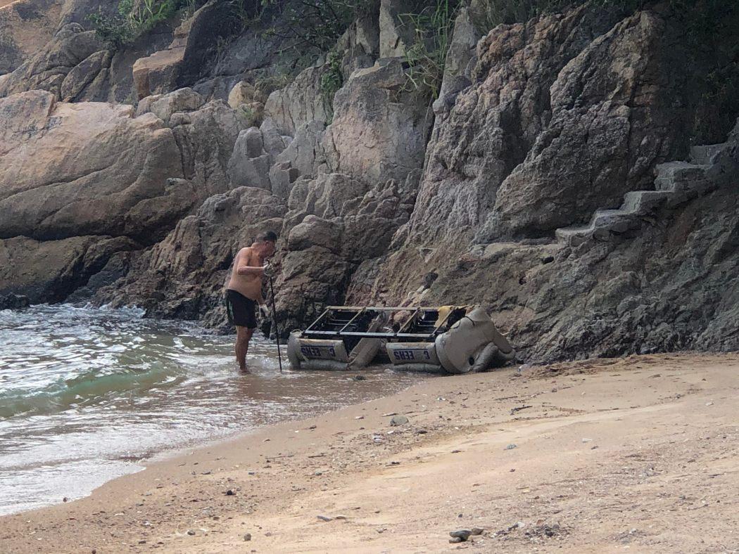 sofa man beach