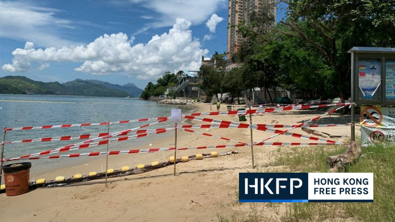 Coronavirus Hong Kong beaches closed