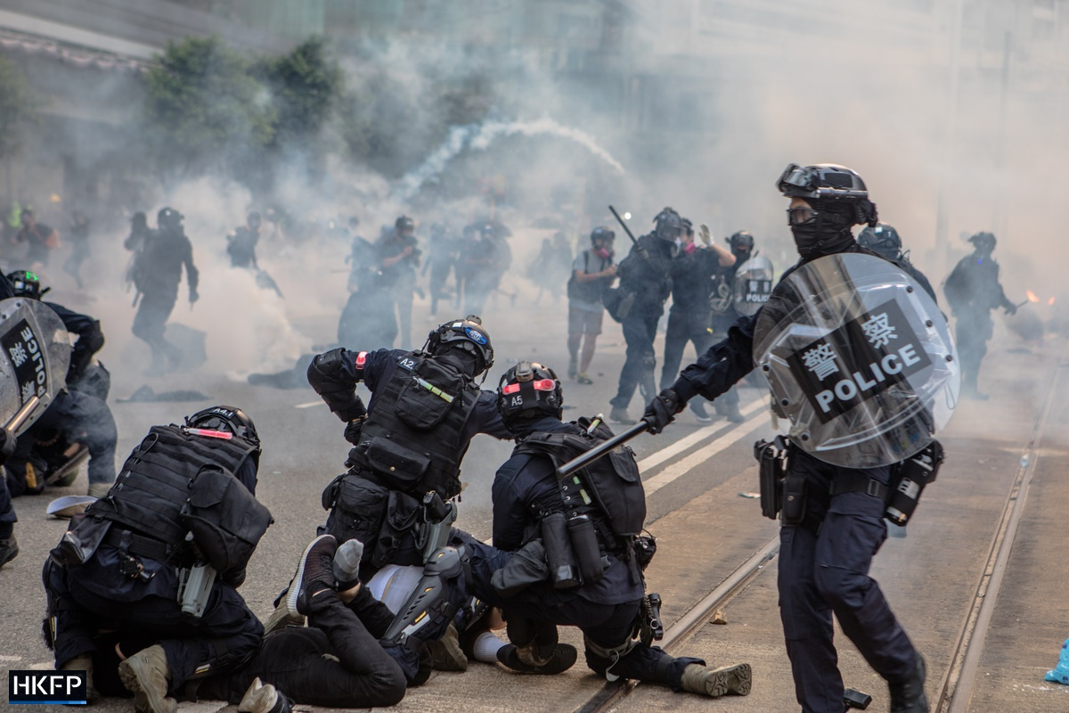 protest police tear gas