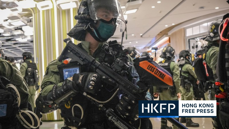 Hong Kong police national security