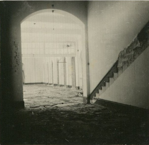 HKu May Hall – showing ground floor with demolished staircase