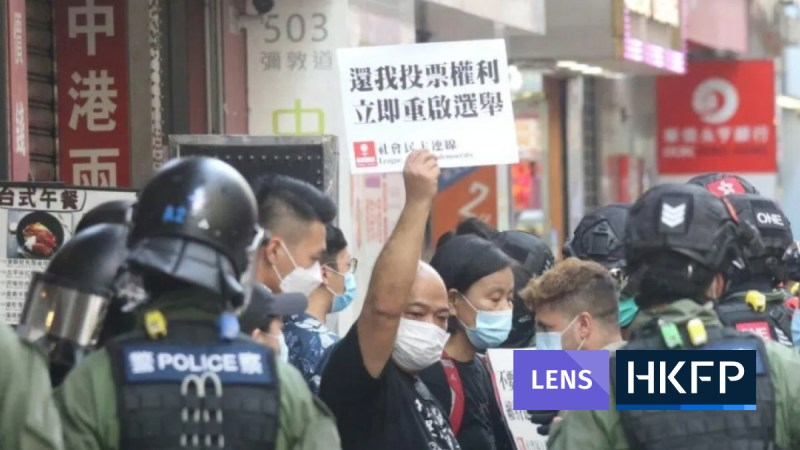 elections protest - Lens