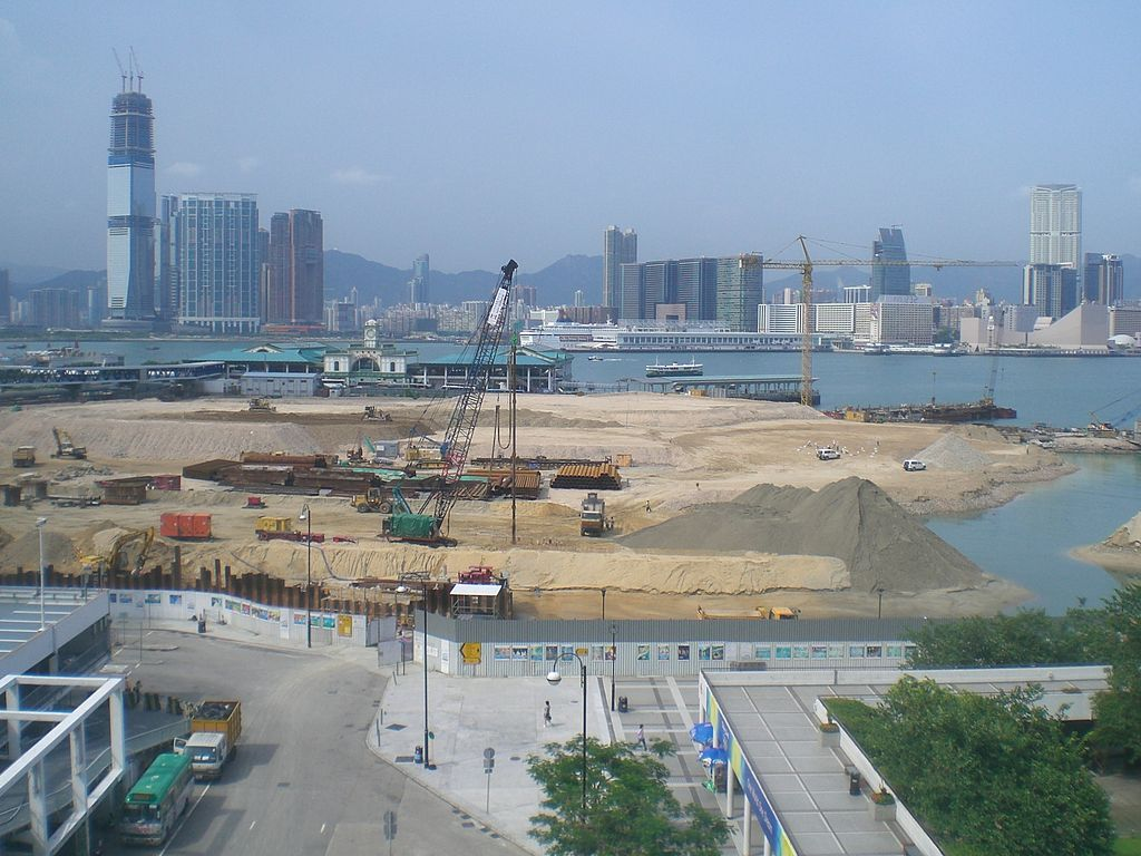 land reclamation Hong Kong real estate Victoria Harbour
