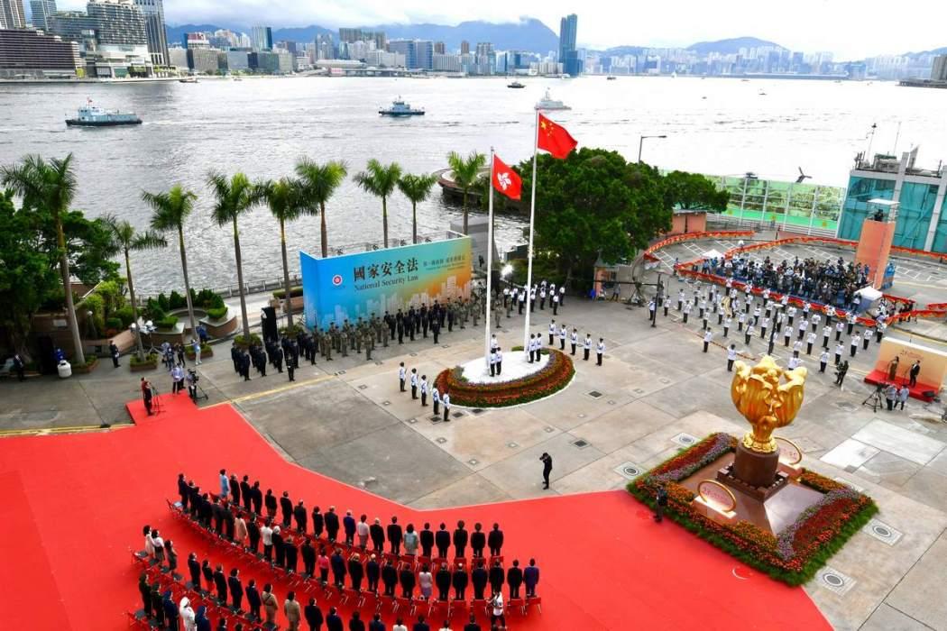 National security law Hong Kong China flag National Day 2020