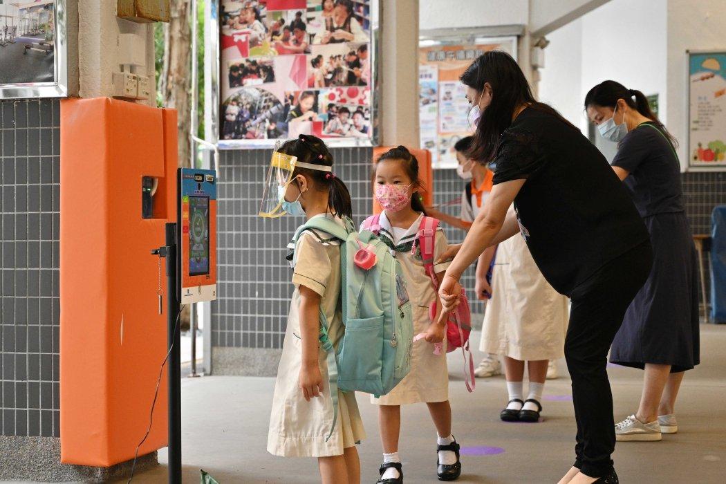 student school education uniform Covid-19 mask kindergarten
