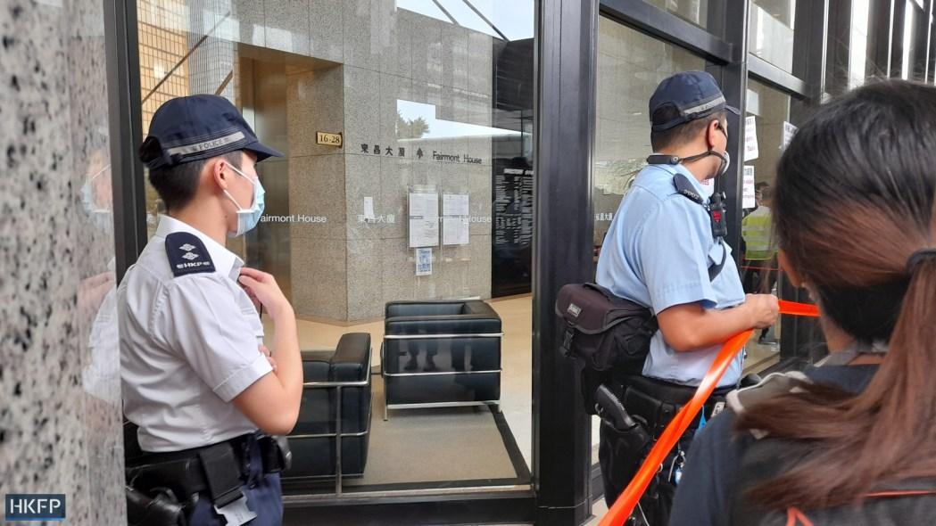 Police cordon thai consulate