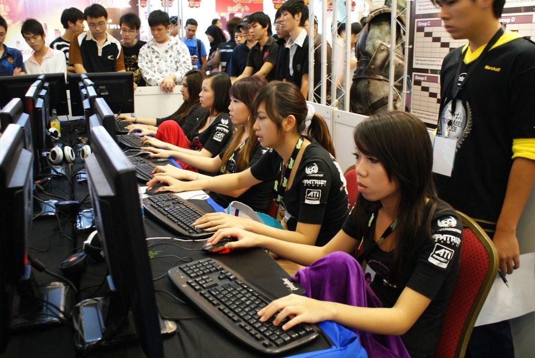 Female gamer video games