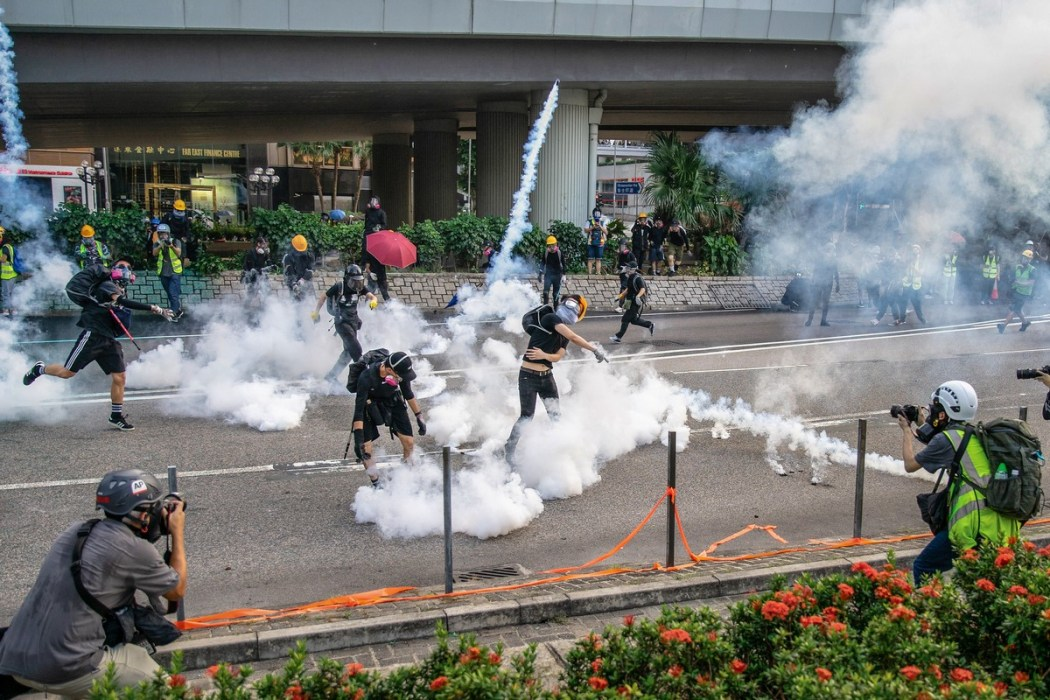 protest admiralty tear gas