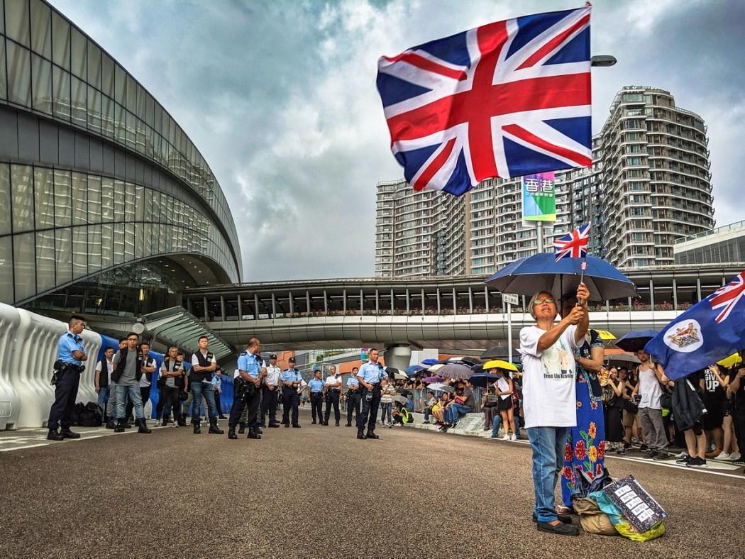 Grandma Wong UK British flag