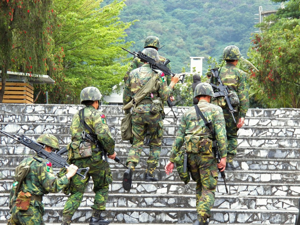 Taiwan army ROCA military soldiers