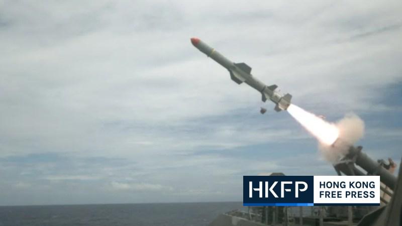 Taiwan US Harpoon missiles