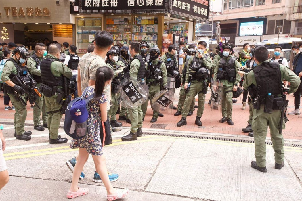October 1 Causeway Bay Police stop and search